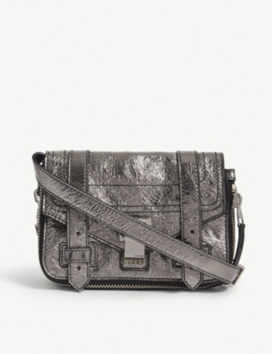 PROENZA SCHOULER PS1+ mini metallic leather cross-body bag