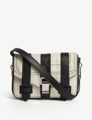 PROENZA SCHOULER PS1+ striped leather cross-body bag