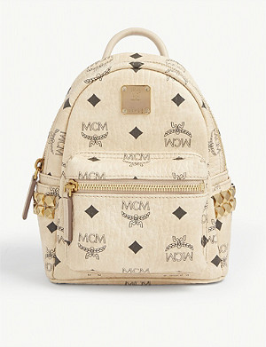 MCM Stark Visetos micro canvas backpack