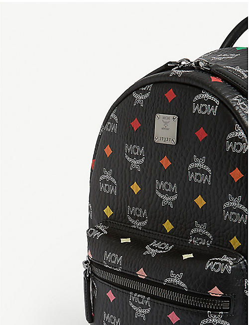 MCM Stark Spectrum coated canvas backpack