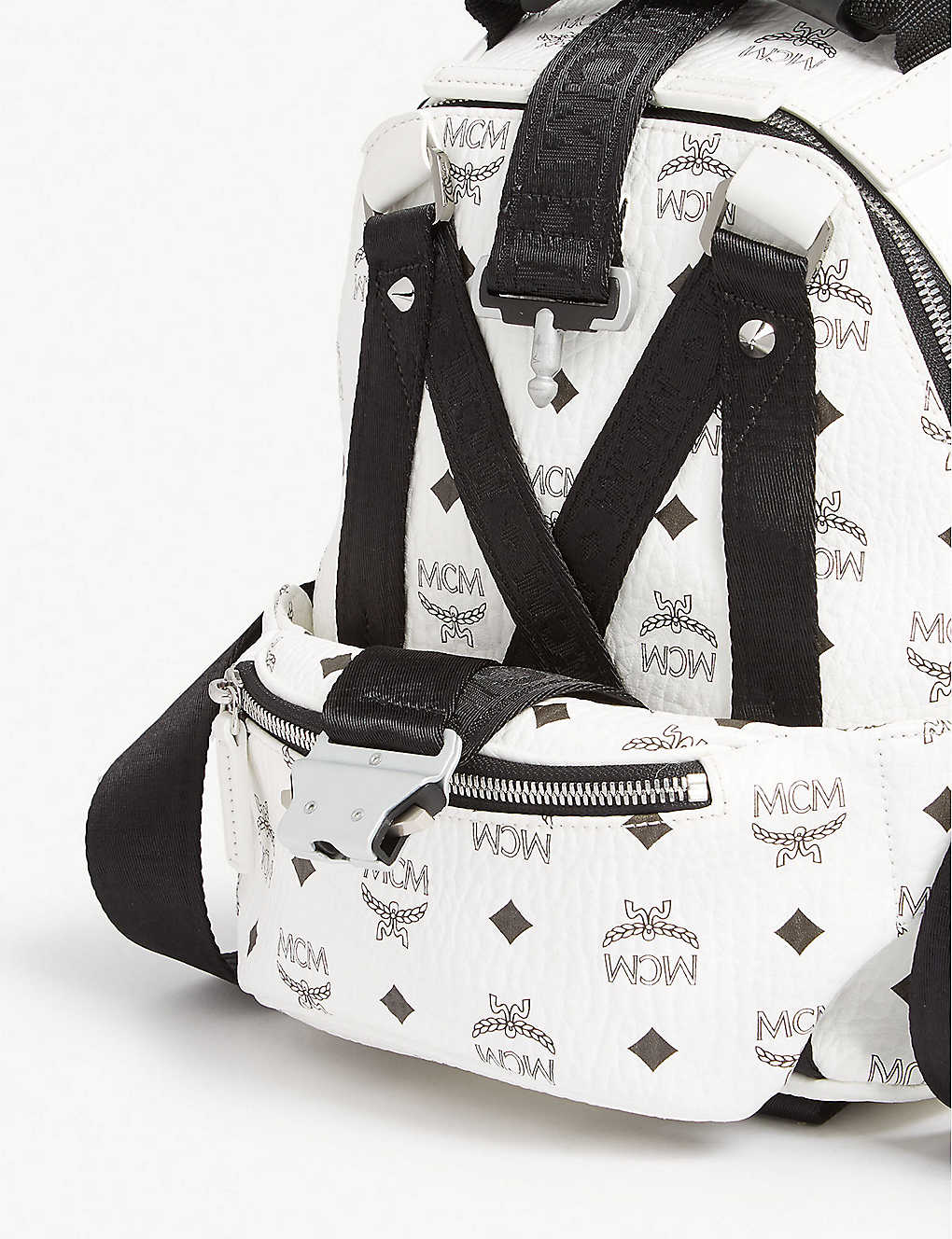 fb0ee593466a0e ... Jemison Visetos mini backpack and belt bag - White