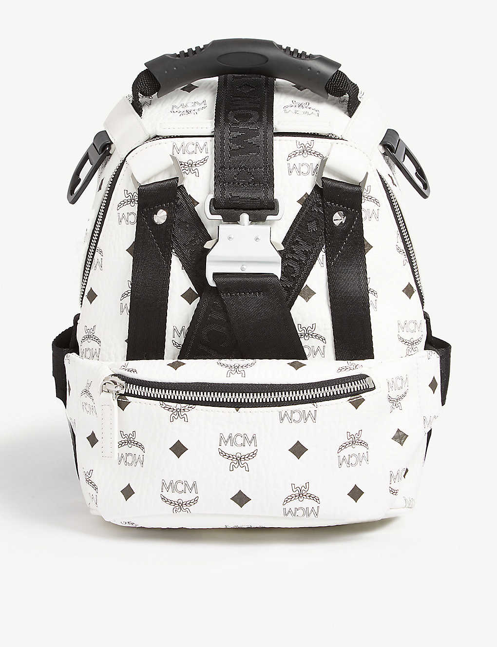 69fc02e5785faa Jemison Visetos mini backpack and belt bag - White ...