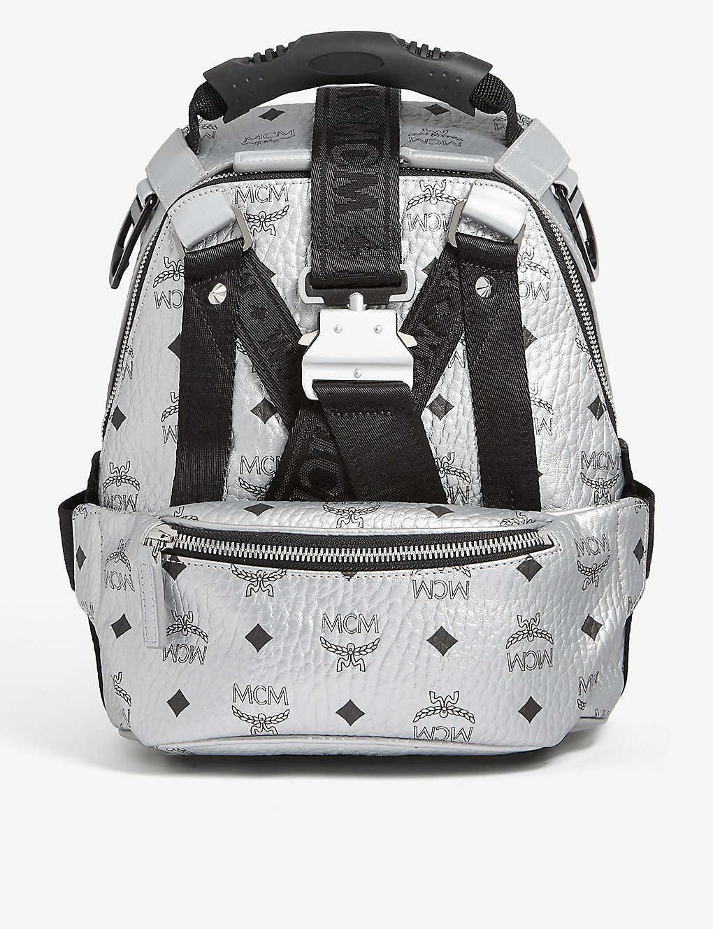 773bf61206c5a8 Jemison Visetos mini backpack and belt bag - Silver ...