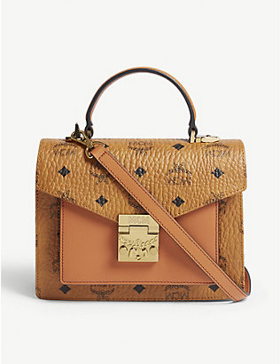 MCM: Patricia Classic Visetos coated canvas satchel