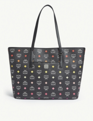 MCM Anya Visetos coated canvas shopper