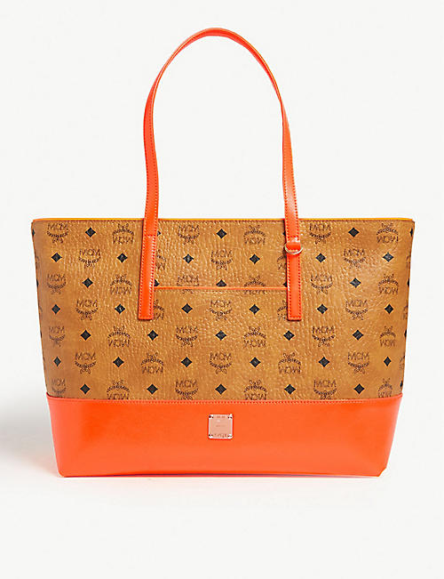 d0a51aa0457 MCM Wilder coated-canvas tote