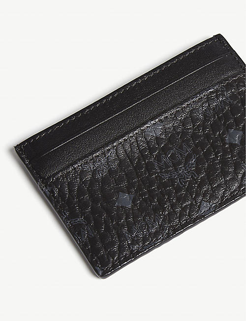MCM Visetos coated canvas card holder