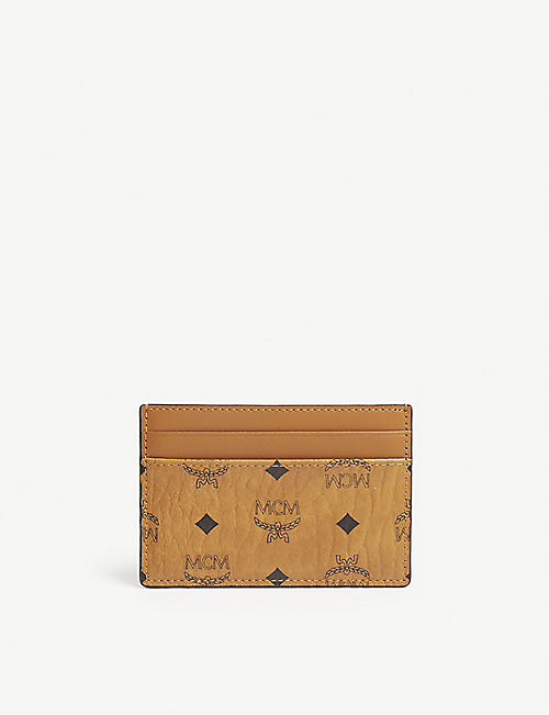 MCM: Visetos coated canvas card holder