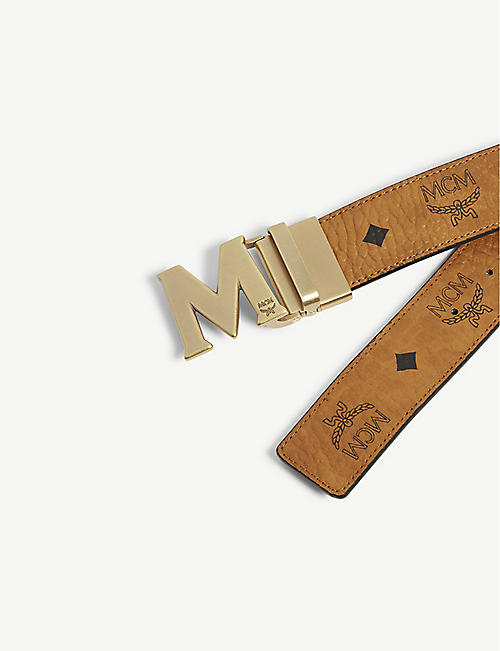 MCM Claus M Visetos and leather reversible belt