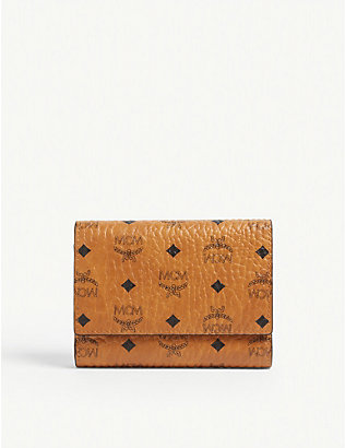 MCM: Visetos canvas three-fold wallet