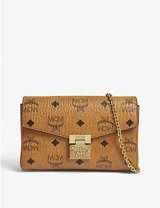 MCM: Millie Visetos canvas clutch