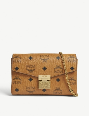 MCM Logo-printed leather clutch