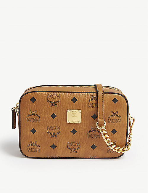 d3b52f2b14 MCM Visetos coated canvas cross-body bag