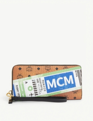 MCM Visetos canvas zip wallet