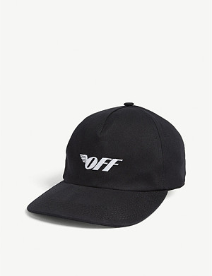 OFF-WHITE C/O VIRGIL ABLOH Wings logo cotton baseball cap