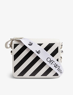 OFF-WHITE C/O VIRGIL ABLOH 斜条纹皮革斜挎包