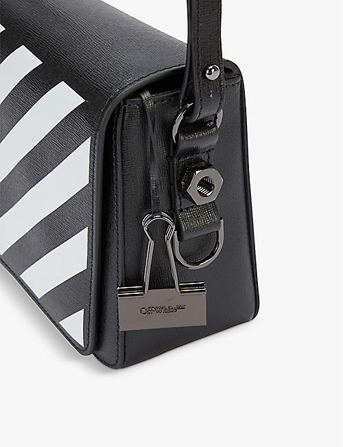 OFF-WHITE C O VIRGIL ABLOH Diagonal stripe leather cross-body bag e7362fac1