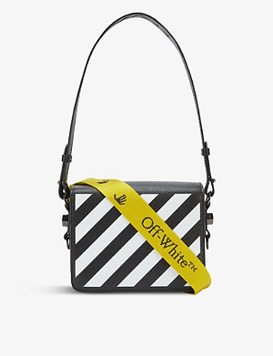 OFF-WHITE C/O VIRGIL ABLOH Diagonal stripe leather cross-body bag