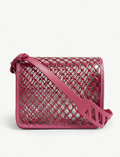 OFF-WHITE C/O VIRGIL ABLOH PVC net cross-body bag