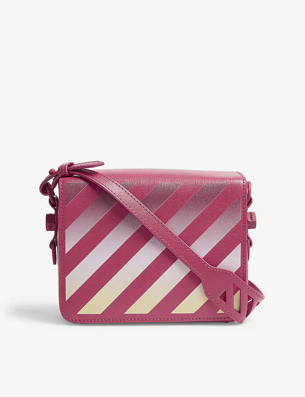 4d3bd1a61 OFF-WHITE C/O VIRGIL ABLOH Gradient diagonal stripe leather shoulder bag