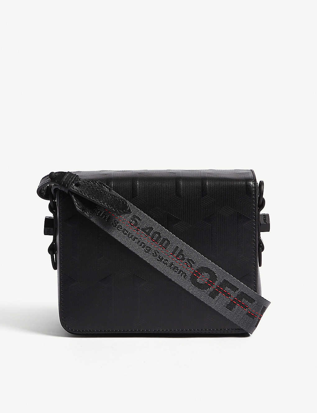 d81af8751a984 OFF-WHITE C/O VIRGIL ABLOH - Embossed arrow leather cross-body bag ...