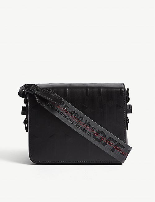 6de100099a29 OFF-WHITE C O VIRGIL ABLOH Embossed arrow leather cross-body bag