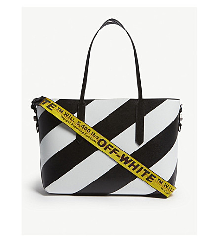 84dac50452af OFF-WHITE C O VIRGIL ABLOH - Diagonal stripe tote bag