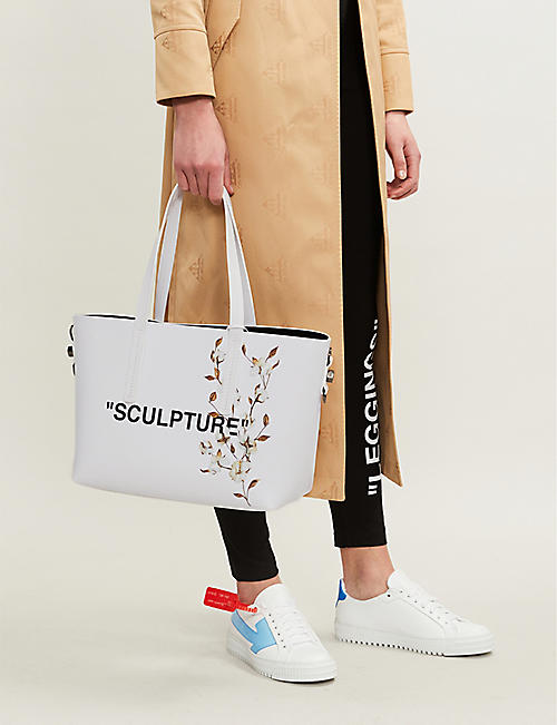 OFF-WHITE C/O VIRGIL ABLOH Sculpture cotton leather tote