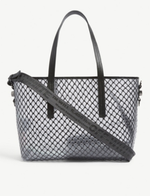 OFF-WHITE C/O VIRGIL ABLOH PVC net shopper bag
