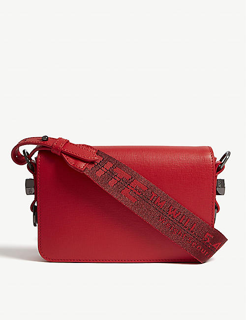 1e0e5b872591 OFF-WHITE C O VIRGIL ABLOH Grained leather cross-body bag
