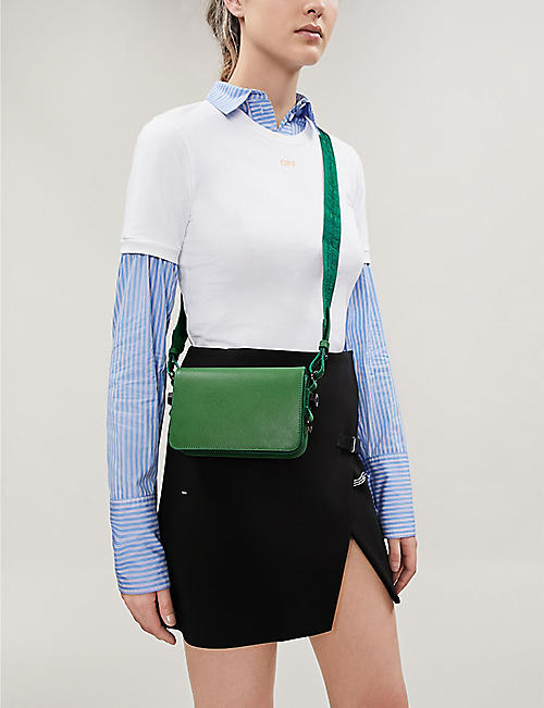 OFF-WHITE C/O VIRGIL ABLOH Grained leather cross-body bag