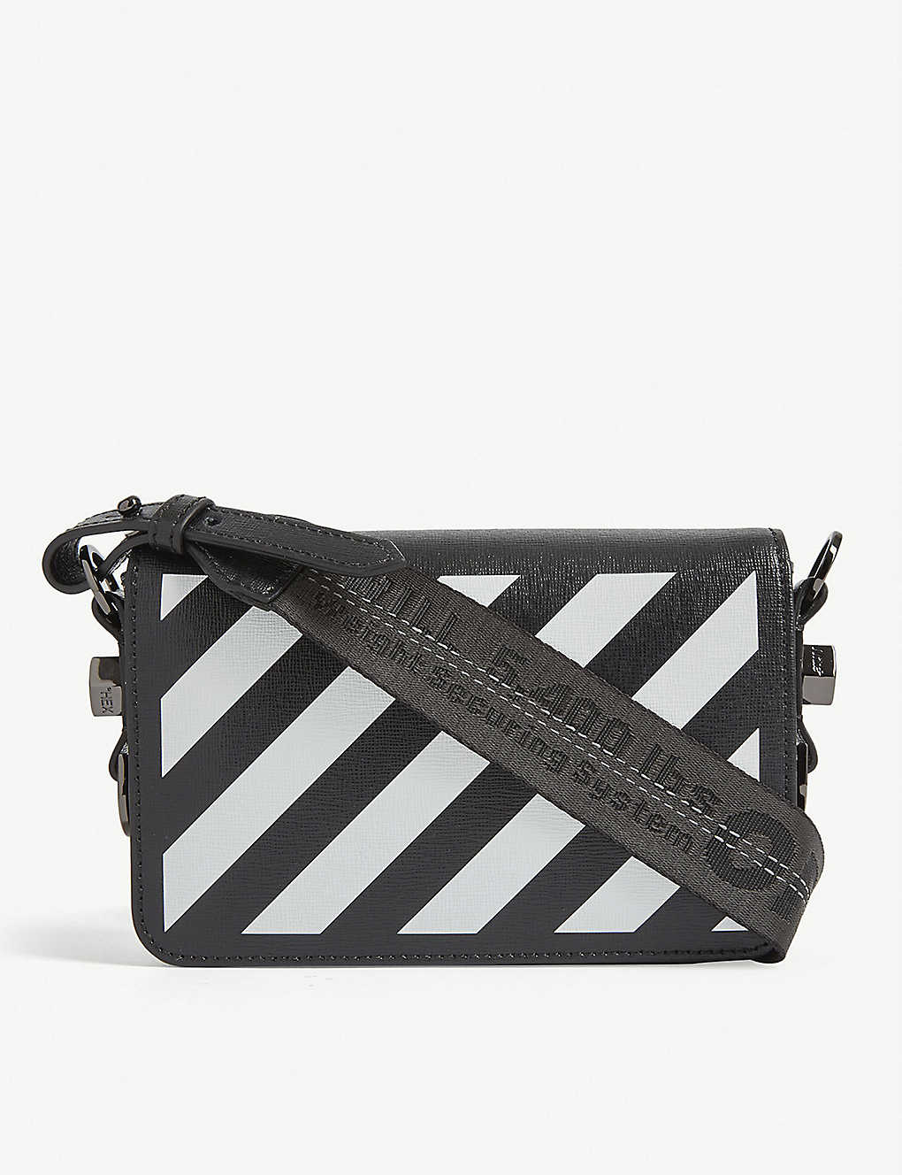 OFF WHITE CO VIRGIL ABLOH Striped mini leather cross body