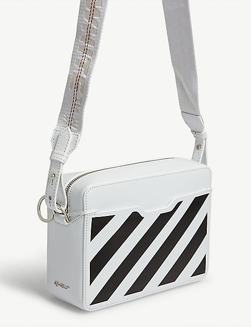 OFF-WHITE C/O VIRGIL ABLOH Striped leather cross-body bag