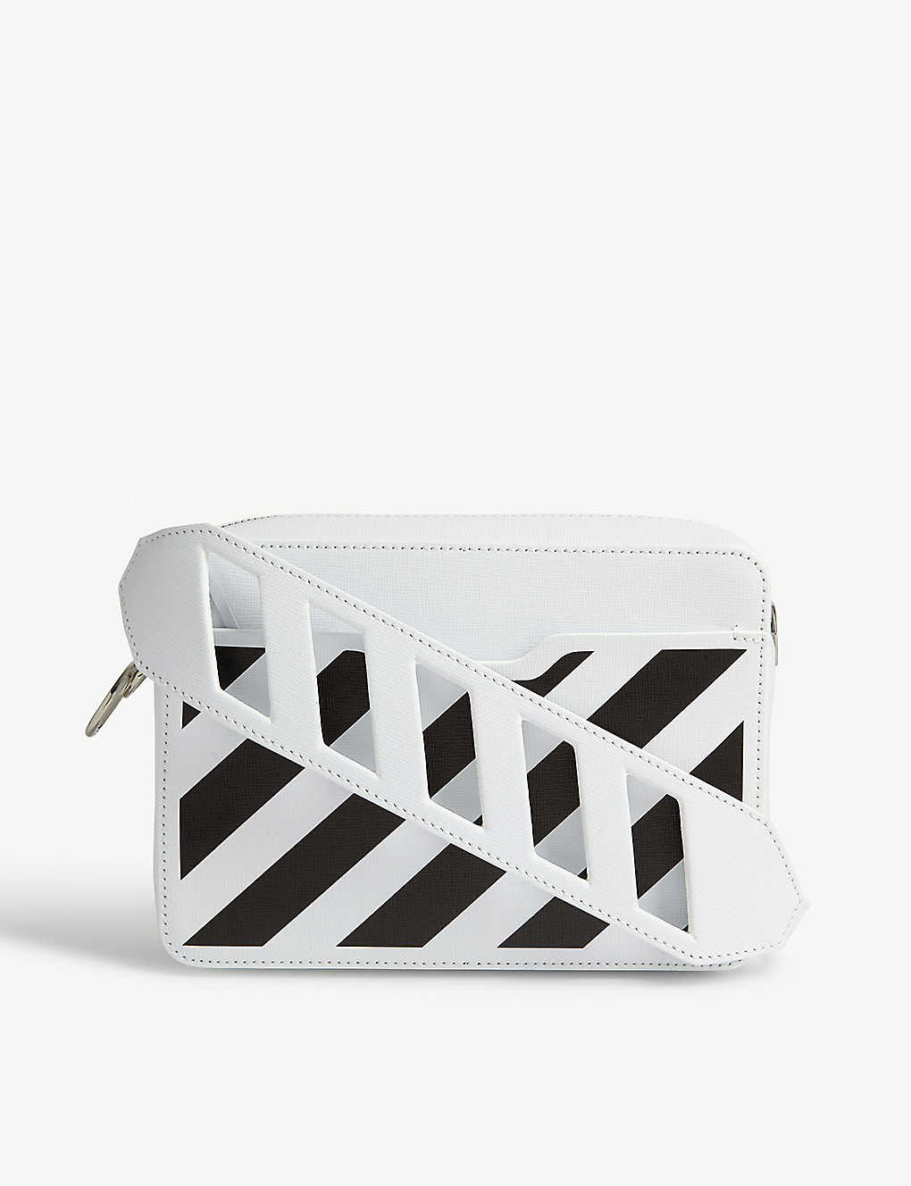 OFF WHITE CO VIRGIL ABLOH Striped leather cross body bag