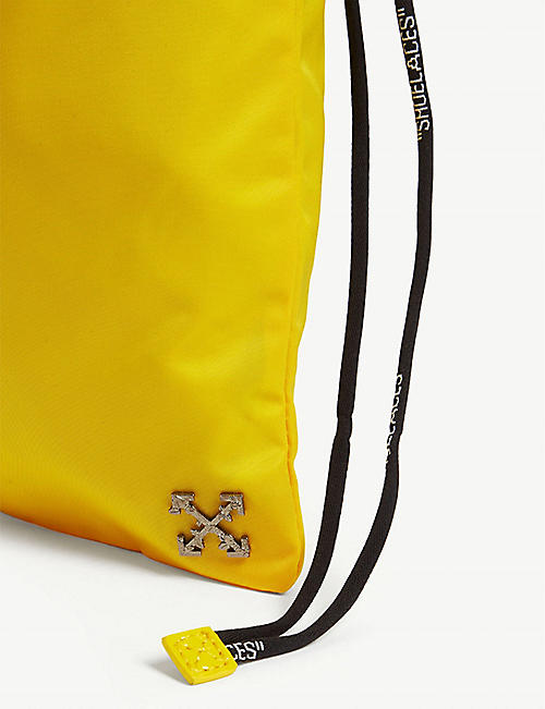 OFF-WHITE C/O VIRGIL ABLOH Drawstring nylon pouch bag
