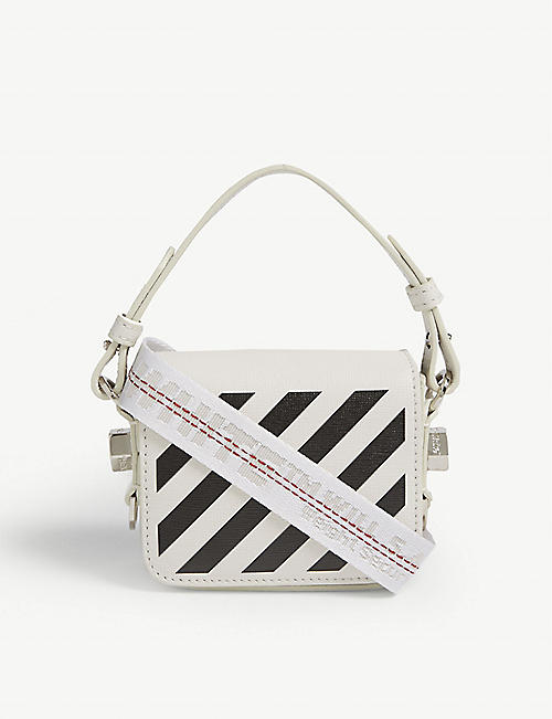 OFF-WHITE C/O VIRGIL ABLOH: Baby leather cross-body bag