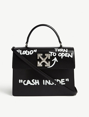 OFF-WHITE C/O VIRGIL ABLOH Jitney 2.8 Cash Inside leather cross-body bag