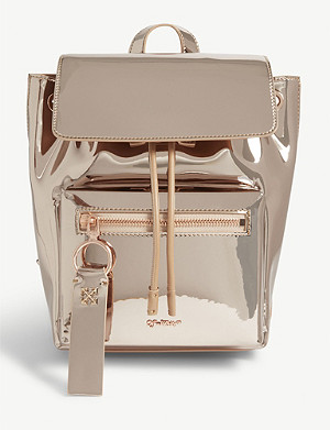 OFF-WHITE C/O VIRGIL ABLOH Patent metallic mirror backpack