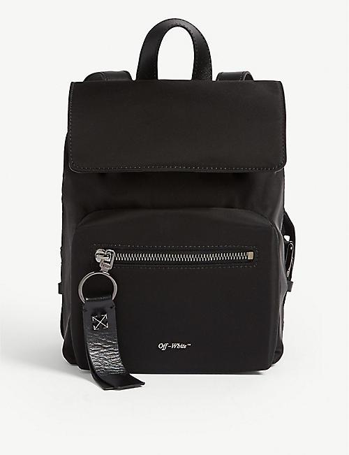 be773c8a6e1a OFF-WHITE C O VIRGIL ABLOH Binder clip nylon mini backpack