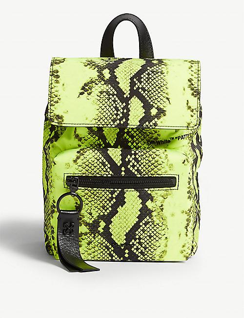 0dc1b02cfae OFF-WHITE C/O VIRGIL ABLOH Fluorescent snake print nylon mini backpack