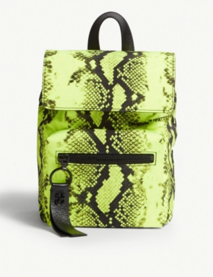 OFF-WHITE C/O VIRGIL ABLOH Fluorescent snake print nylon mini backpack