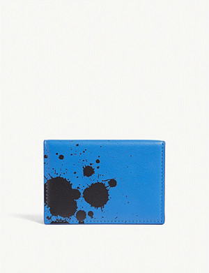 OFF-WHITE C/O VIRGIL ABLOH Utility clip paint stain leather card holder