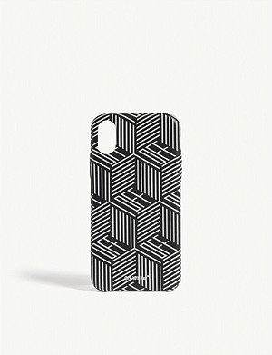 OFF-WHITE C/O VIRGIL ABLOH Checkered logo iPhone X case