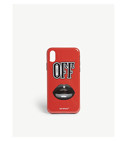 new arrival 84e1f 76f46 OFF-WHITE C/O VIRGIL ABLOH - Lips motif phone case | Selfridges.com