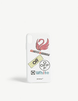 OFF-WHITE C/O VIRGIL ABLOH Swan logo iPhone XS phone case