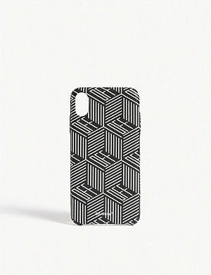 OFF-WHITE C/O VIRGIL ABLOH Checkered logo iPhone XS case