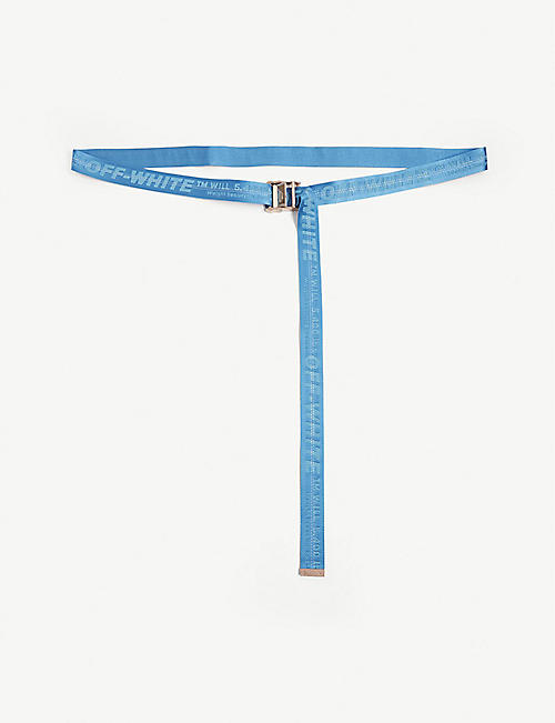 OFF-WHITE C/O VIRGIL ABLOH: Classic industrial tape jacquard belt