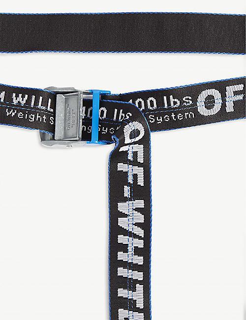 13b1b75e OFF-WHITE C/O VIRGIL ABLOH Jacquard industrial tape belt. EXCLUSIVE TO  SELFRIDGES. Quick Shop