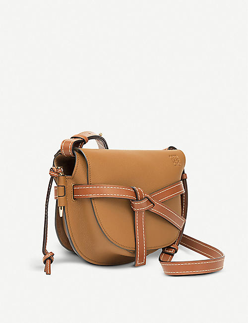 LOEWE Gate leather saddle bag