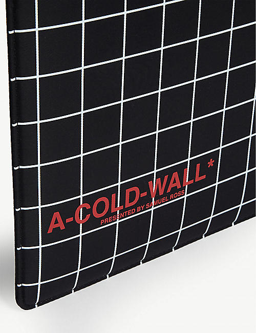 A-COLD-WALL Grid print tablet case